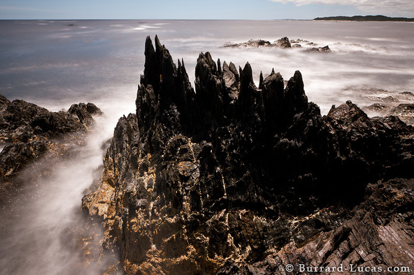 The rugged Tasmanian coastline.