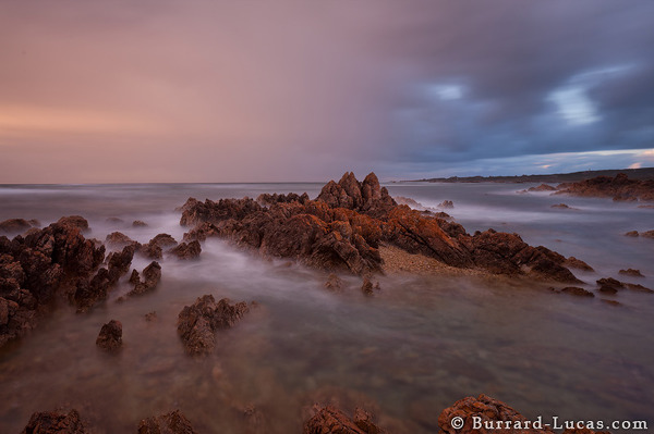 Stormy skies off the coast of Tasmania.