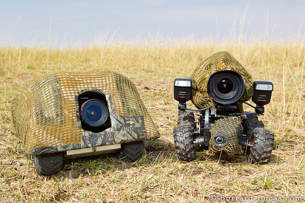 BeetleCam Armoured Edition (left) and BeetleCam Mark II (right)
