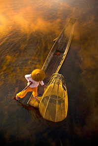 Fisherman by Kyaw Kyaw Winn