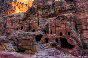 Tombs and houses are carved into every rock face!